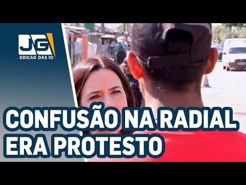 Confusão na Radial era protesto por moradora baleada