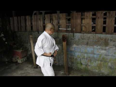 Higa Minoru sensei Kyudokan makiwara