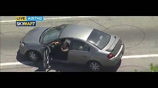 LAPD chasing murder case suspect