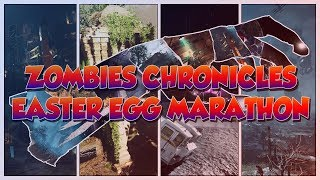 ZOMBIES CHRONICLES EASTER EGG MARATHON - GRINDING THE COMMUNITY CHALLENGE! (Black Ops 3 Zombies)