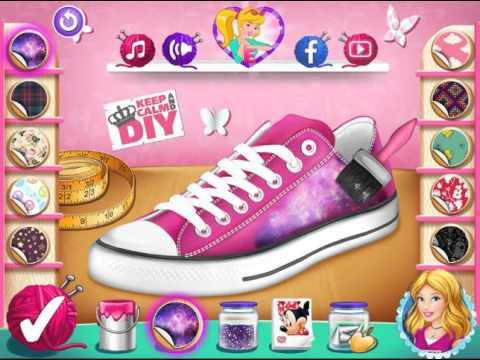 Мультик игра Золушка: Обувь в стиле Дисней (Cinderellas Disney Shoes)