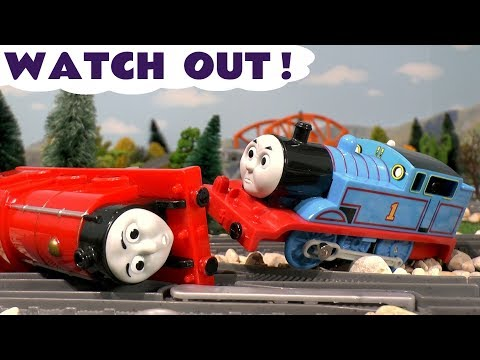Thumbnail: Thomas and Friends Toy Trains Watch Out Compilation of Accidents Stories and Fun - PJ Masks TT4U