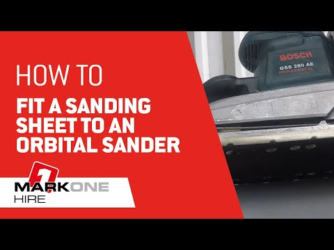 Fitting a Sanding Sheet to an Orbital Sander - Mark One Hire