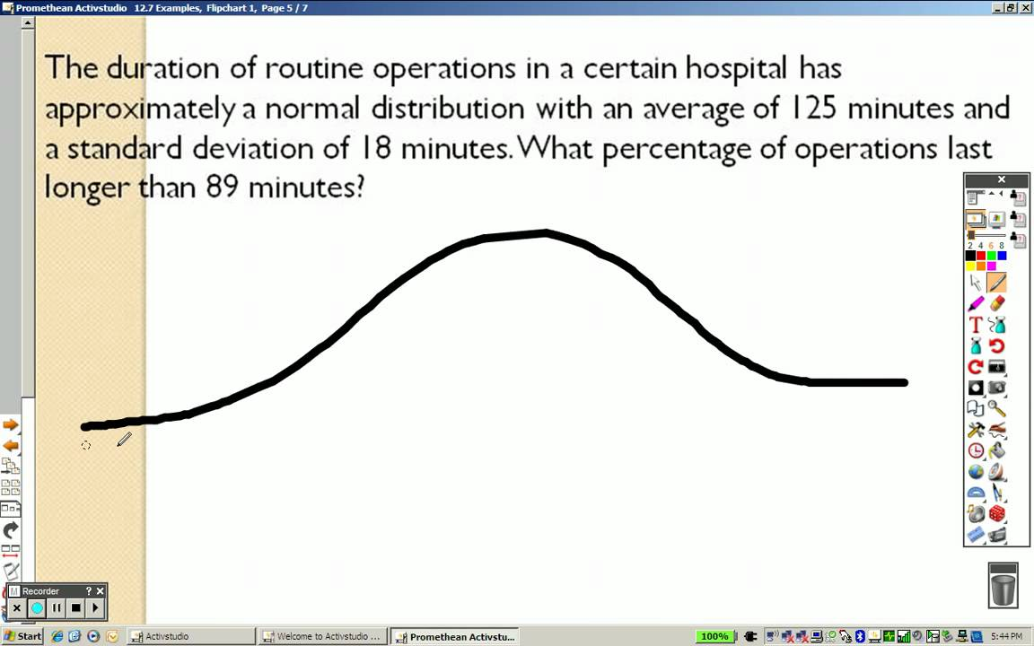 Algebra 2 127 Examples Normal Distribution Youtube