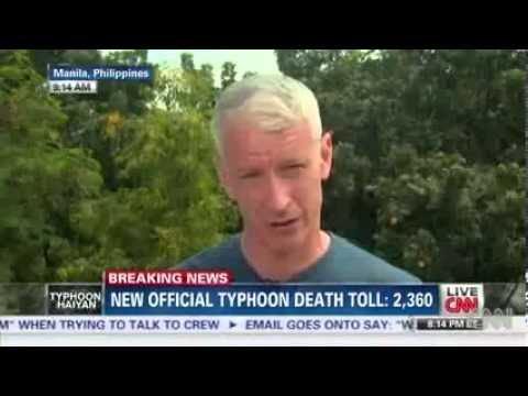 CNN Anchor Anderson Cooper Responds about Korina Sanchez Comment in Typhoon in Haiyan, Pilipinas