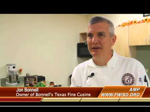 Chef Jon Bonnell teaches kids at Benbrook middle school to cook