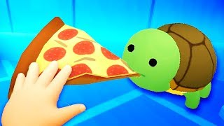 FEEDING PIZZA TO A TURTLE IN VR! - Baby Hands Gameplay Part 2 - VR HTC Vive