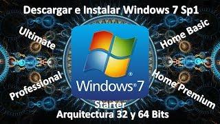 Descargar e instalar Windows 7 32 y 64 bits Full, Ultimate, Professional, Home, Starter Una sola ISO