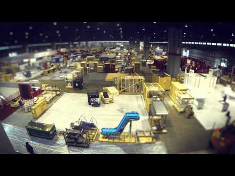Set-up in North Hall, McCormick Place, PROCESS EXPO 2013