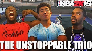THE UNSTOPPABLE MYPARK TRIO! DUNKING ON PLAYERS! NBA 2K19 MyPark
