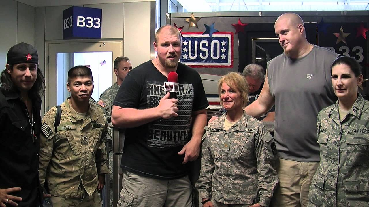 uso send off of us troops overseas dfw w matthew jc marc columbo