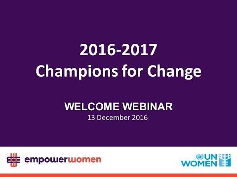 2016 - 2017 Global Champions - Welcome Webinar