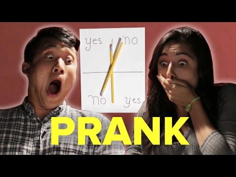 People Try The Charlie Charlie Challenge (Prank Video)