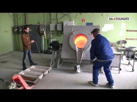Electric Melting Crucible Furnace ETF-BU350 Start Up Testing