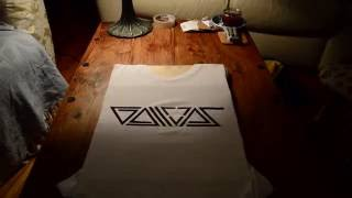T-shirt Stencilling - GALLOPS - Hand Painted