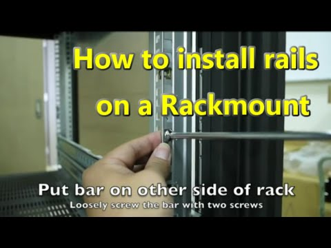 """How to fit and install 19"""" rails to your rackmount - a step by step guide"""