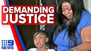 Mother of George Floyd's child demands justice | 9 News Australia