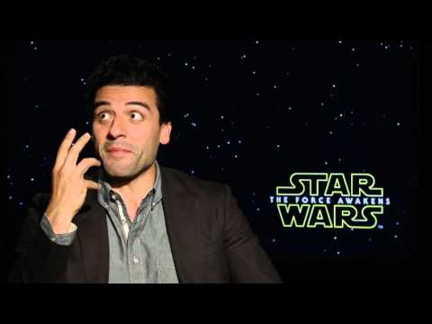 Star Wars: The Force Awakens: Oscar Isaac Official Movie Interview