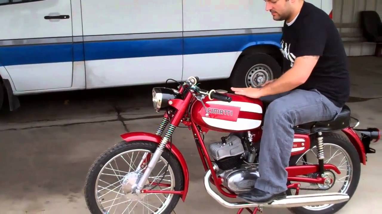 100cc cimatti vintage motorcycle restoration youtube. Black Bedroom Furniture Sets. Home Design Ideas