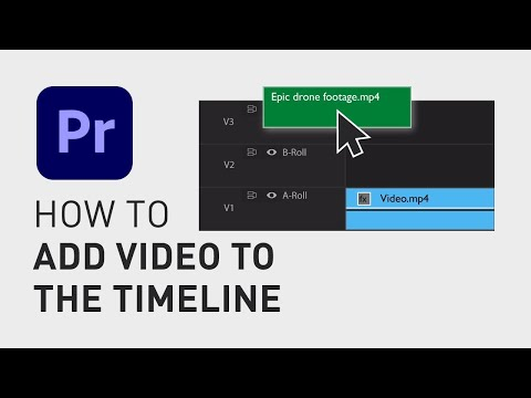 How to add videos to timeline in Premiere Pro