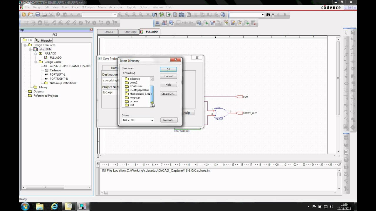 Save Project As how-To Tutorial OrCAD Capture on