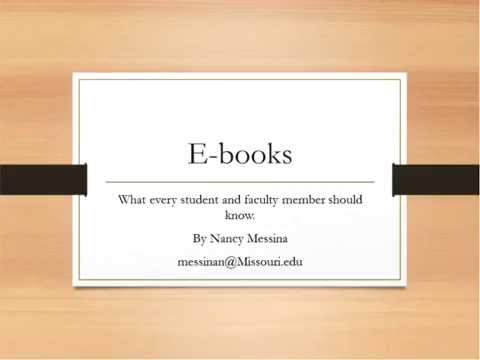 EBooks: What Every Student and Faculty Member Should Know