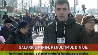 Salariul minim din România, penultimul loc în Europa