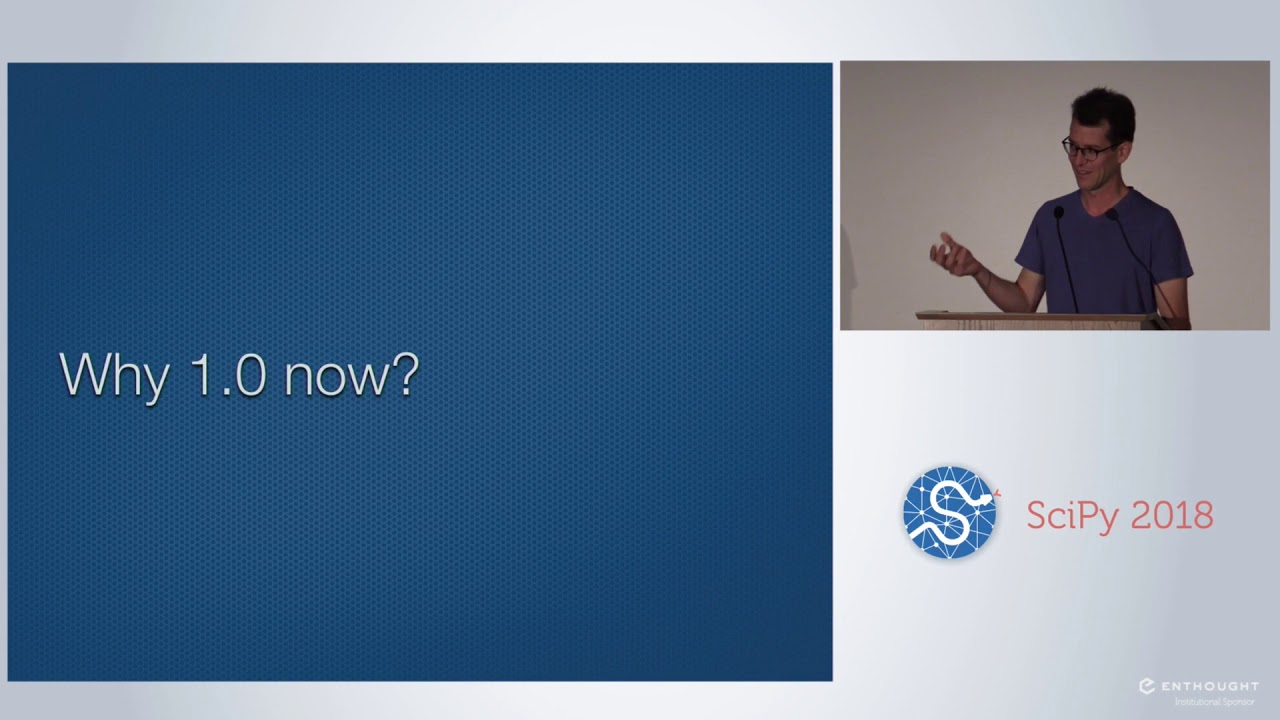 Image from Keynote: SciPy 1.0 and Beyond - a Story of Code and Community