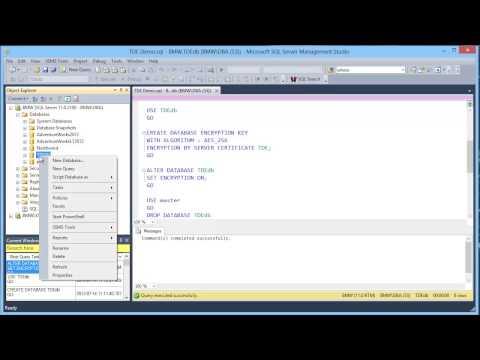 Transparent Data Encryption in SQL Server 2012 - Demonstration