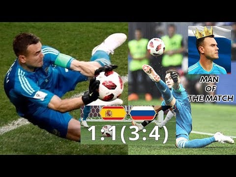 Cuplikan Russia vs Spain |  Igor Akinfeev jadi Man of The Match