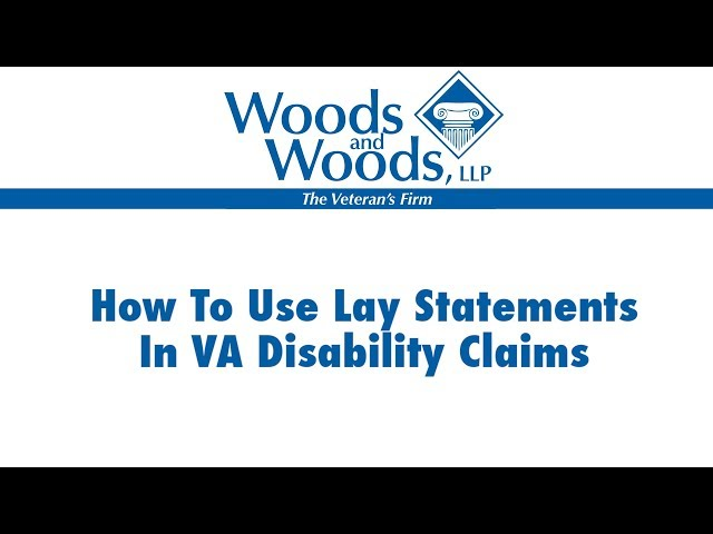 VA Disability Benefits Buddy Statements For Veterans How