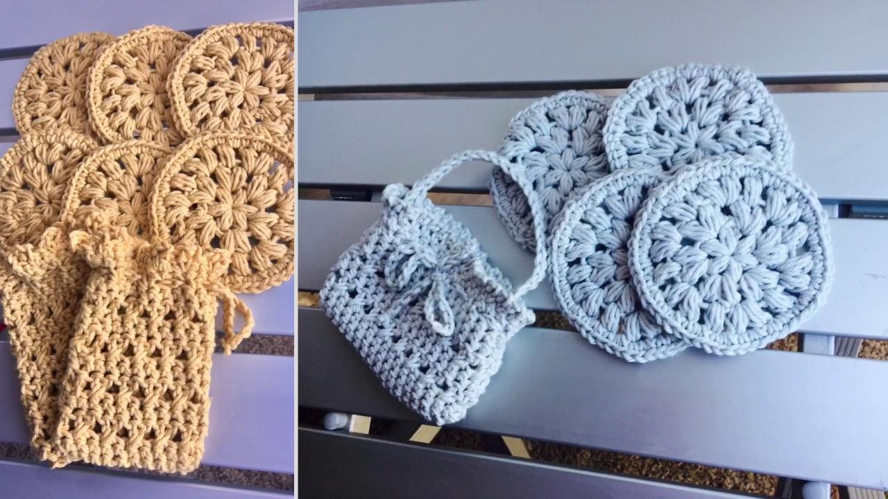 Crochet Wash Cloth Dish Cloth 😊Soap Saver Bag 💼 Crochet Face ...