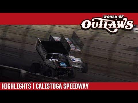 World of Outlaws Craftsman Sprint Cars Calistoga Speedway September 14, 2018 | HIGHLIGHTS