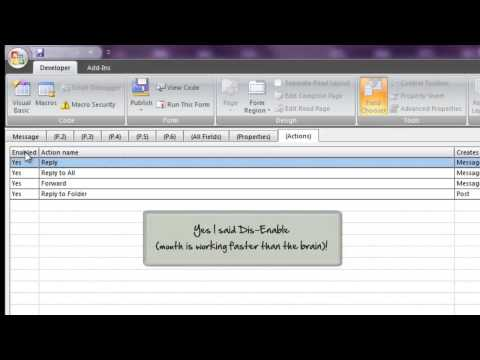 How to: Disable Reply, Reply All or Forward in Outlook (2003, 2007, 2010)