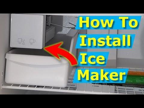 How to Install Ice Maker Box Whirlpool, Frigidaire Refrigerators