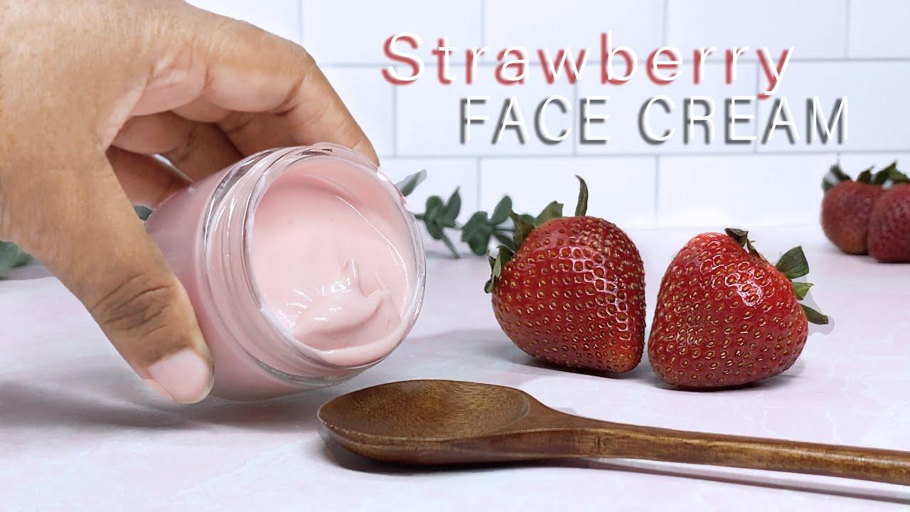 DIY Strawberry Face Cream | How to make a Simple Face Moisturizer Formula | ft. Oslove Organics