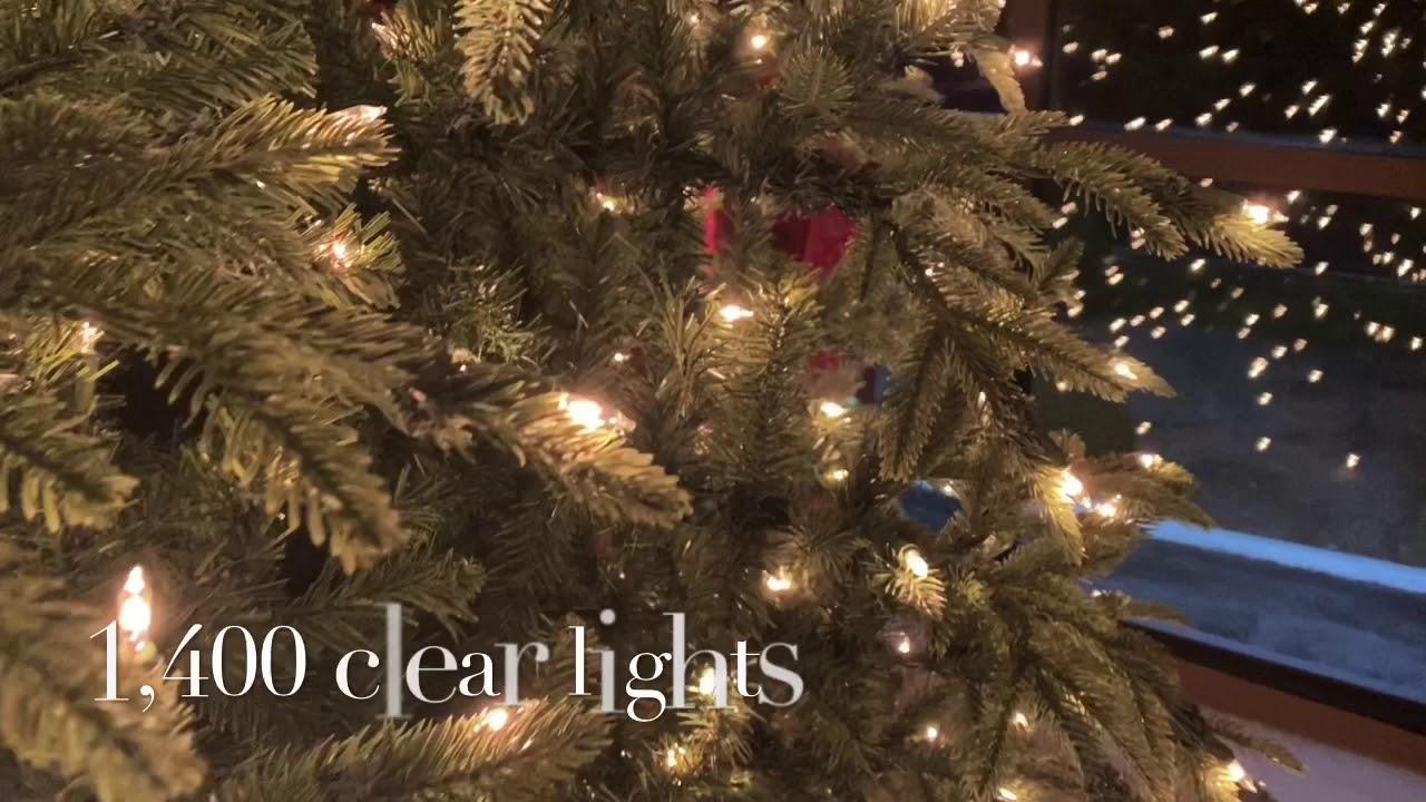 9' Highland Fir Pre-Lit Artificial Christmas Tree - YouTube