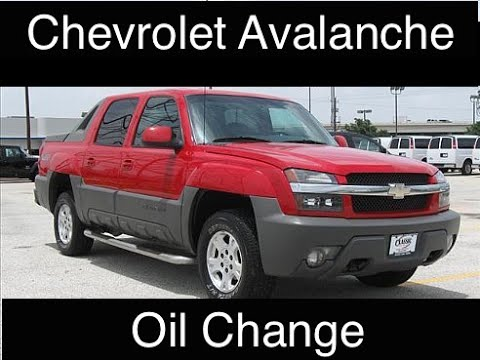 How to Change The Oil in a Chevy Avalanche or Similar model - 5.3 ...
