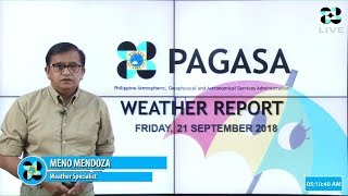 Public Weather Forecast Issued at 4:00 PM September 21, 2018