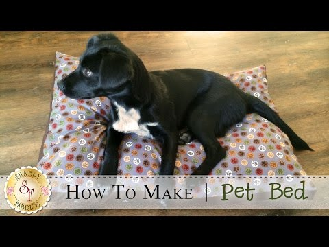 How To Make A Pet Bed | A Shabby Fabrics Sewing Tutorial
