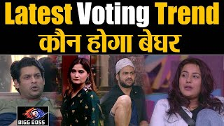 Bigg Boss 13 Latest Voting Trend Siddharth Shehnaz on Top who will get EVICTED  Shudh Manoranjan