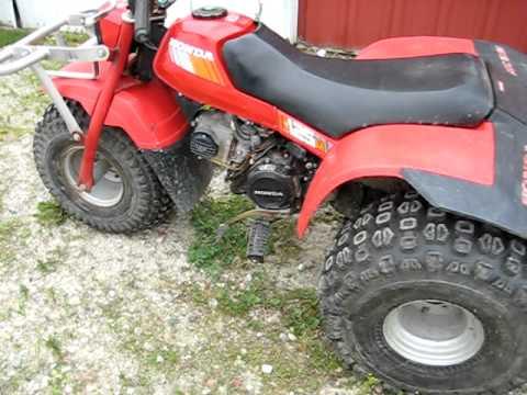 Honda 125 three wheeler atv start up youtube honda 125 three wheeler atv start up sciox Image collections