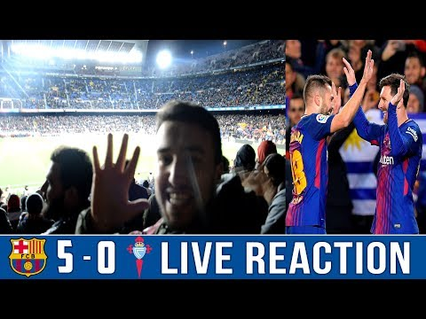BARÇA DESTROY CELTA VIGO IN A 5-0 FOOTBALL SHOW | NOU CAMP VLOG / LIVE REACTION