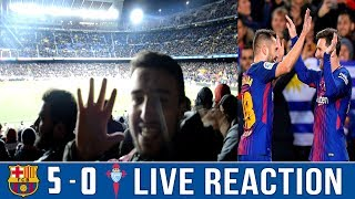 Download Video BARÇA DESTROY CELTA VIGO IN A 5-0 FOOTBALL SHOW   NOU CAMP VLOG / LIVE REACTION MP3 3GP MP4