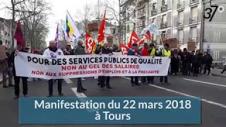 Tours : 5000 manifestants dans les rues le 22 mars 2018