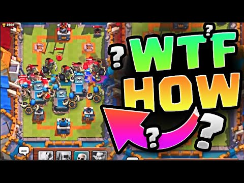 WTF HOW... REACTING TO CLASH ROYALE'S BIGGEST TROLL
