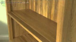 Newark Solid Oak Tall Bookcase From Oak Furniture Land