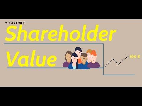 Shareholder Value Ansatz einfach erklärt | wirtconomy