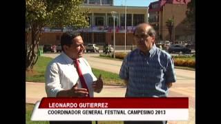 Leonardo Gutiérrez, coordinador general festival campesino 2013