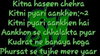 Kitna Hasin Chehra Kumar Sanu Full Karaoke